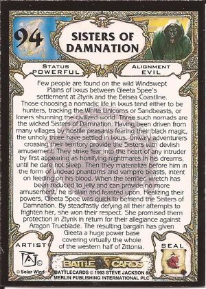 94 Sisters of Damnation US back