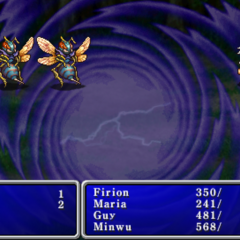 Warp cast on the enemy party in <i><a href=