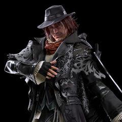 A full-body, CG render of Ardyn.