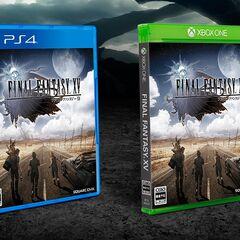 <i>Final Fantasy XV</i> Japanese boxart.