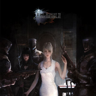 Concept artwork of Luna, Gentiana, and Niflheim troops.