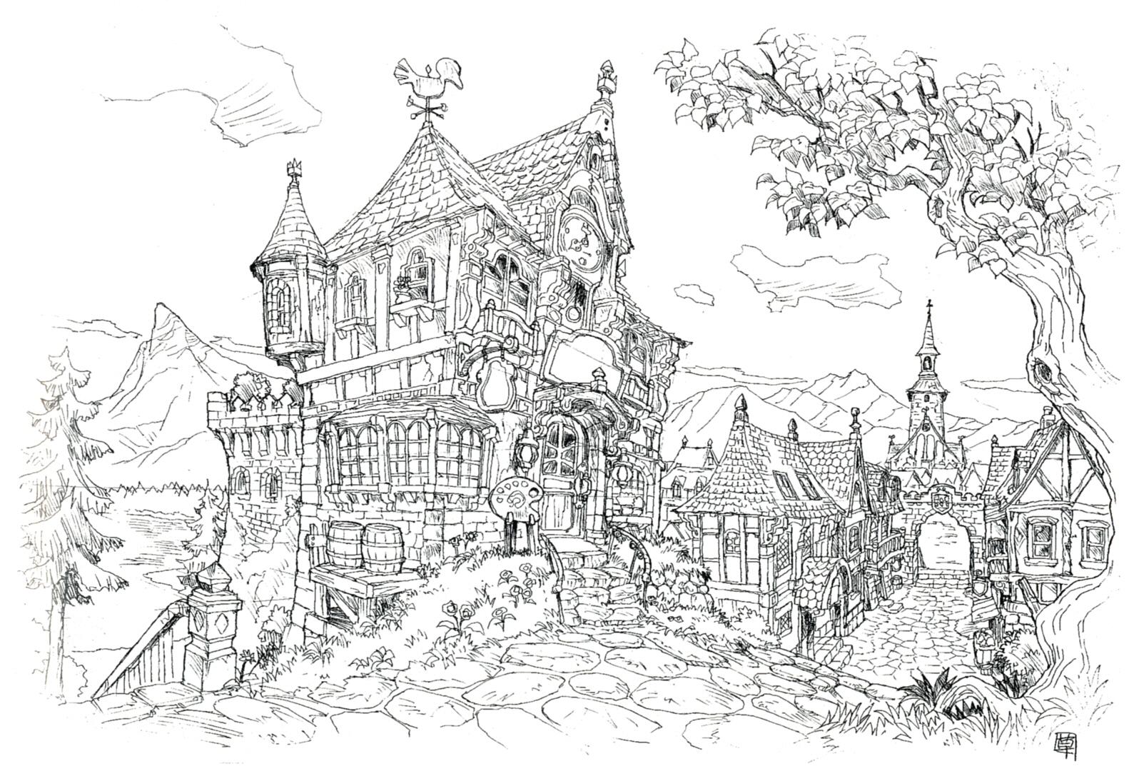 Image unused bar ff9 final fantasy wiki for Final fortress blueprints