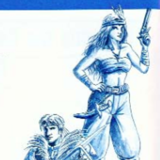 <i>Final Fantasy Legend II</i> Human Male &amp; Female US Artwork.