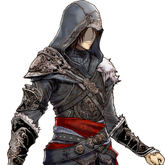 Artwork for Noel's <i>Assassin's Creed</i> DLC outfit.