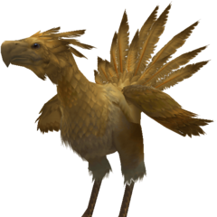 Render of a chocobo.