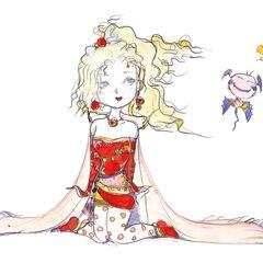 Chibi artwork by Yoshitaka Amano.