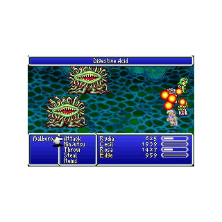 Digestive Acid in the GBA version