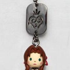 <i>Kingdom Hearts</i> Aerith mascot strap.