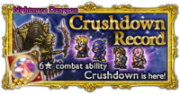 FFRK Crushdown Record Nightmare Dungeon