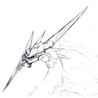 Concept art of Bahamut ZERO's face.