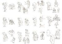 FFVI Characters Nomura Art