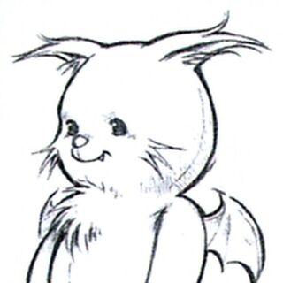 Alternate concept art of MiniMog for <i>Final Fantasy VIII</i> by Tetsuya Nomura.