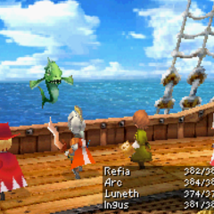 Book of Fire in <i>Final Fantasy III</i> (DS).