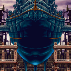 The <i>Dreadnought</i> in its first cutscene (PSP).