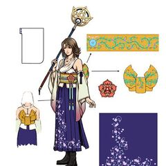 Diagram of Yuna's Summoner attire.