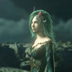 Rydia in the opening FMV of <i>the Complete Collection</i>.