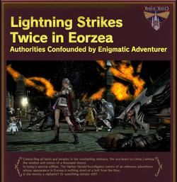 FFXIV FATE Lightning Strikes Promo