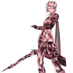 Lightning's manikin, Fleeting Flash from <i>Dissidia 012</i>.