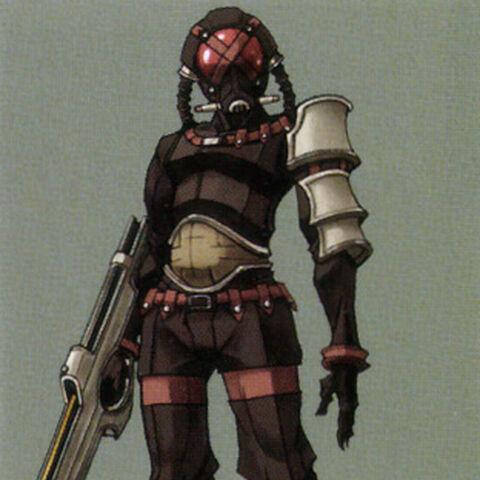 Concept artwork of the G Diver by Tetsuya Nomura.
