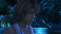 Yuna crying in Macalania Spring