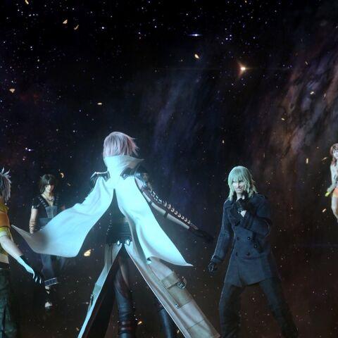Lightning meets her friends in Cosmogenesis.