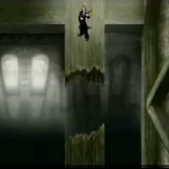 Church rafters in <i>Before Crisis -Final Fantasy VII-</i>.