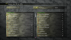 FFX-2 HD Accessories Menu