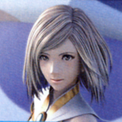 Ashe during an FMV ending from <i>Final Fantasy XII: Revenant Wings</i>.