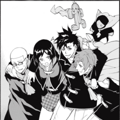 Kurasame with his Four Champions friends.