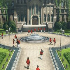 The gardens of Akademeia.
