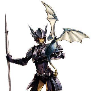 Concept art of a Dragoon.