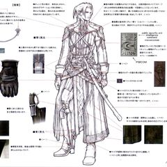 Concept art of Yaag Rosch's outfit.