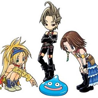 Paine, Rikku, and Yuna.