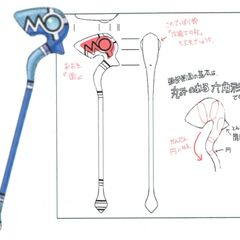 Alternate concept artwork for the Flame staff.