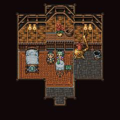 Inside Gau's father's house (GBA).