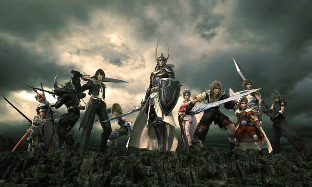 File:Dissidia Final Fantasy - CG artwork of Warriors of Cosmos.jpg