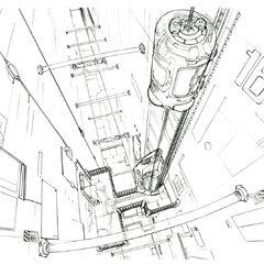 Lunatic Pandora Laboratory Elevator.