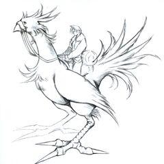 Chocobo riding artwork.
