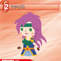 Trading card depicting Faris from <i>Final Fantasy Airborne Brigade</i>.