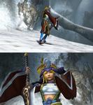 Rikku Samurai Victory Pose
