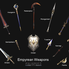 The Empyrean Weapons in <i><a href=