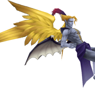 Kefka's second alternate outfit EX Mode render in <i><a href=