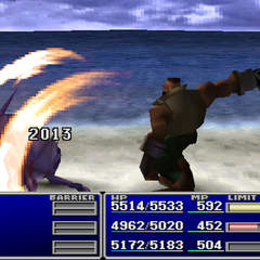 Barret using Deathblow without a Gun-Arm.
