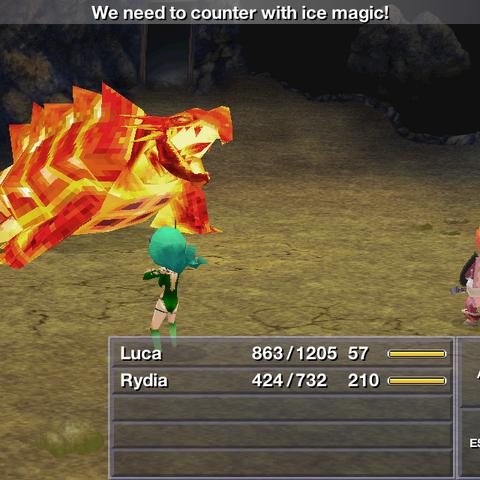 Agartoise battle in the iOS version.