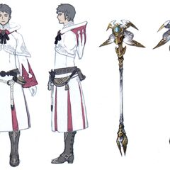 White Mage artwork.