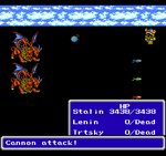 FFIII NES Cannon Attack