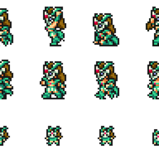 Set of Gladiator's sprites.