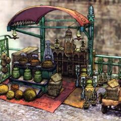 Nalbina Fortress fruit stand.