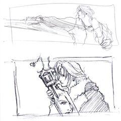 Artwork by Tetsuya Nomura.