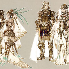 Concept art of Rasler and Ashe's wedding by Akihiko Yoshida.